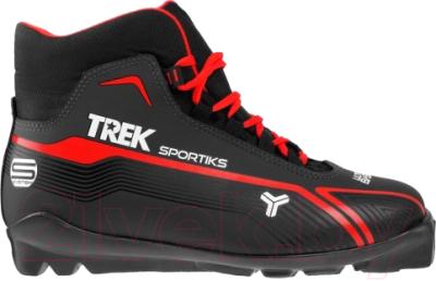 Ботинки для беговых лыж TREK Sportiks 2 NNN (черный/красный, р-р 44)