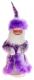 Фигура под ёлку Зимнее волшебство Дед Мороз в шубе с пухом / 540631 (фиолетовый) -
