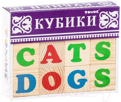 Развивающая игрушка Томик Кубики. Алфавит английский / 1111-2