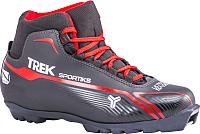 Ботинки для беговых лыж TREK Sportiks 2 SNS (черный/красный, р-р 45) -
