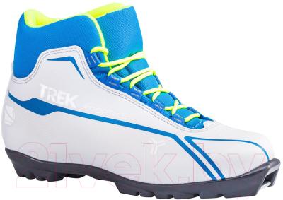Ботинки для беговых лыж TREK Sportiks 5 NNN (белый/синий, р-р 38)