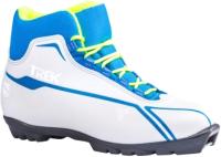 Ботинки для беговых лыж TREK Sportiks 5 NNN (белый/синий, р-р 33) -