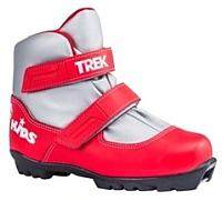 Ботинки для беговых лыж TREK Kids 1 NNN (красный/белый, р-р 34) -