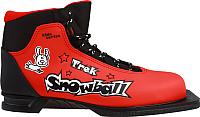 Ботинки для беговых лыж TREK Snowball 1 (красный/черный, р-р 37) -