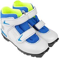 Ботинки для беговых лыж TREK Snowrock 2 NNN (белый/синий, р-р 31) -