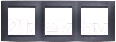 Рамка для выключателя Simon 1500630-038 рамка simon 15 1500630 038 трехместная универсальная графит