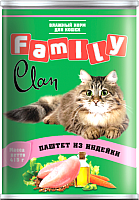 Корм для кошек Clan Family паштет из индейки №26 (415г) -