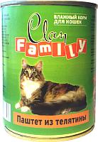 Корм для кошек Clan Family паштет из телятины №29 (415г) -