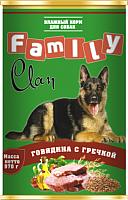 Корм для собак Clan Family с говядиной и гречкой №43 (970г) -