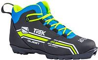 Ботинки для беговых лыж TREK Quest 1 SNS (черный/лайм, р-р 45) -