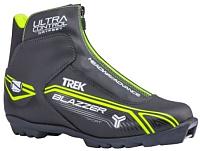 Ботинки для беговых лыж TREK Blazzer Comfort 1 NNN (черный/лайм, р-р 44) -
