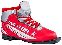 Ботинки для беговых лыж TREK Winter 1 (красный/серебристый, р-р 35) -