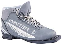 Ботинки для беговых лыж TREK Winter 4 (металлик/серебристый, р-р 35) -