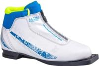Ботинки для беговых лыж TREK Winter Comfort 3 NN75 (белый/синий, р-р 34) -