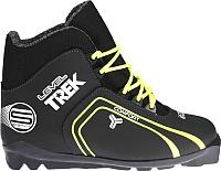 Ботинки для беговых лыж TREK Level 1 SNS (черный/лайм, р-р 41) -