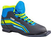 Ботинки для беговых лыж TREK Snowy 1 (черный/лайм, р-р 33) -