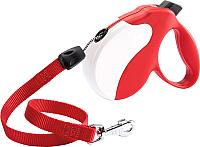 Поводок-рулетка Ferplast Amigo L / 75730022 (шнур, красный/белый) -