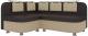 Уголок кухонный мягкий Mebelico Уют-2 32 левый / 58704 (экокожа, бежевый/коричневый) -