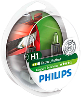 Комплект автомобильных ламп Philips H1 12258LLECOS2 (2шт) -