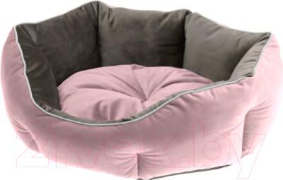 Лежанка для животных Ferplast Queen 60 / 83406001 (розовый/серый)