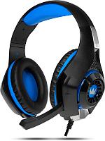Наушники-гарнитура Crown CMGH-101T (черный/синий) -