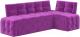 Уголок кухонный мягкий Mebelico Люксор 39 правый / 58940 (микровельвет, фиолетовый) -
