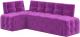 Уголок кухонный мягкий Mebelico Люксор 39 левый / 58940 (микровельвет, фиолетовый) -