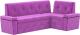 Уголок кухонный мягкий Mebelico Деметра 45 правый / 58973 (микровельвет, фиолетовый) -