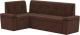Уголок кухонный мягкий Mebelico Деметра 45 левый / 58974 (микровельвет, коричневый) -