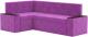 Уголок кухонный мягкий Mebelico Остин 46 левый (микровельвет, фиолетовый) -