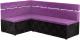 Уголок кухонный мягкий Mebelico Классик 53 левый / 59119 (микровельвет, фиолетовый/черный) -