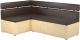Уголок кухонный мягкий Mebelico Классик 53 левый / 59118 (экокожа, коричневый/бежевый) -