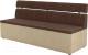 Скамья кухонная мягкая Mebelico Классик 52 / 106552 (микровельвет, коричневый/бежевый) -