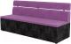 Скамья кухонная мягкая Mebelico Классик 52 / 106555 (микровельвет, фиолетовый/черный) -