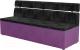 Скамья кухонная мягкая Mebelico Классик 52 / 106556 (микровельвет, черный/фиолетовый) -