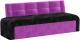 Скамья кухонная мягкая Mebelico Люксор 38 / 58929 (микровельвет, черный/фиолетовый) -