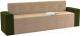 Скамья кухонная мягкая Mebelico Династия 47 / 59463 (микровельвет, бежевый/зеленый) -