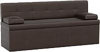 Диван Mebelico Лео 50 / 58992 (экокожа, коричневый) -