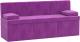 Скамья кухонная мягкая Mebelico Лео 50 / 58997 (микровельвет, фиолетовый) -