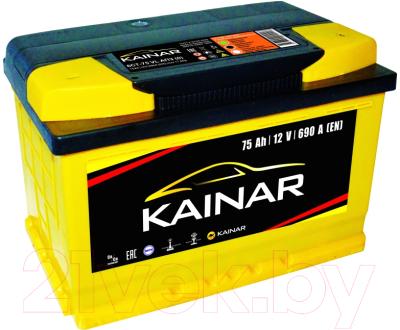 Автомобильный аккумулятор Kainar 75 R+ низкий / 075 12 20 02 0141 05 06 0 L