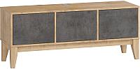 Тумба Woodcraft Гарленд 10004 (дуб гамильтон натуральный/бетон чикаго темно-серый) -