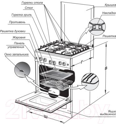 Плита газовая Gefest 5100-02