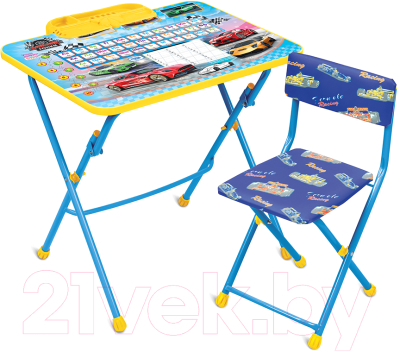 Комплект мебели с детским столом Ника КУ1/15 Большие гонки