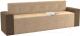 Скамья кухонная мягкая Mebelico Династия 47 (микровельвет, бежевый/коричневый) -