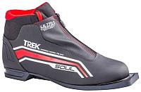 Ботинки для беговых лыж TREK Soul Comfort 2 (черный/красный, р-р 34) -