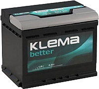 Автомобильный аккумулятор Klema Better 6CT-65 АзЕ (65 А/ч) -
