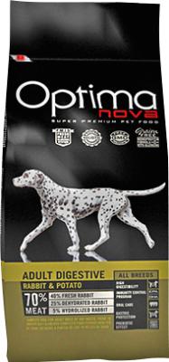 Корм для собак Optimanova Adult Digestive Rabbit & Potato  (800г)
