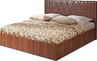 Полуторная кровать Мебель-Парк Аврора 6 200x140 (темный) -