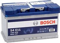 Автомобильный аккумулятор Bosch EFB S4 E11 580500080 / 0092S4E111 (80 А/ч) -