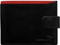 Портмоне Cedar Ronaldo N01L-VT RFID (черный/красный) -